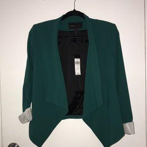 BCBG MAXAZRIA Relaxed Jacket Blazer Jewel Green